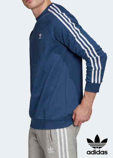 ADIDAS – 3-Stripes Crewneck Sweat-Shirt