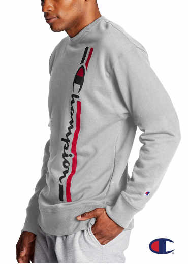 CHAMPION – Powerblend Fleece Crew; Vertical Logo