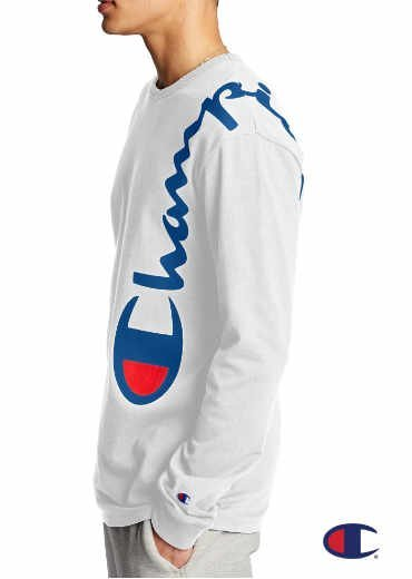 CHAMPION – Heritage Long-Sleeve Tee, Over The Shoulder Logo