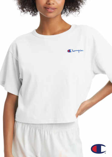 CHAMPION – Heritage Cropped Tee, Embroidered Logo