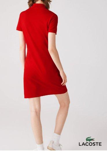 LACOSTE – Stretch Cotton Piqué Polo Dress