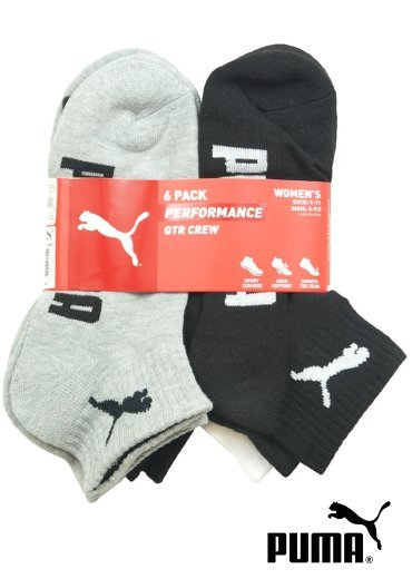 PUMA – 6 Pack Performance Low Cut Socks